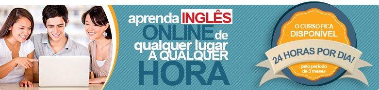 Curso de Inglês Online, 24 horas por dia.