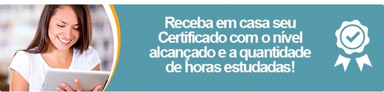 Certificado - Curso de Inglês Online.